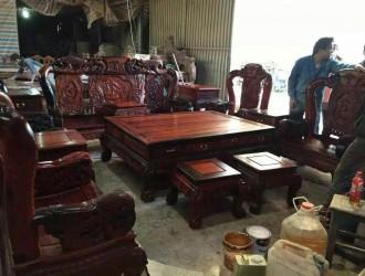老挝大红酸枝沙发
