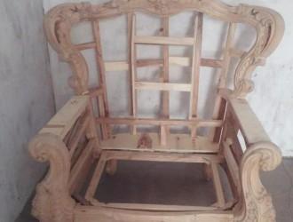 欧式实木套房白茬,客厅家具,沙发,实木沙发