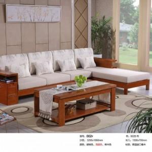 专业供应实木布艺沙发套件