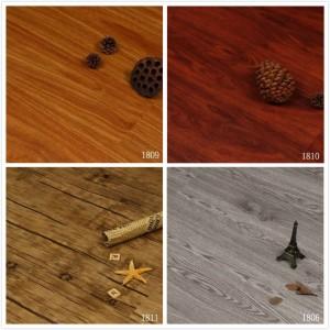 厂家佛山批发木纹石塑锁扣地板 出口仿古PVC木地板家居地板胶
