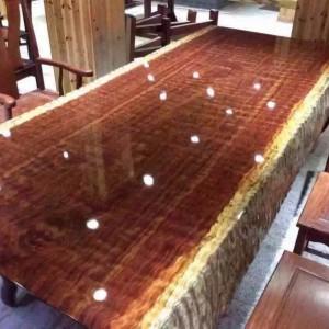 巴花实木大板桌