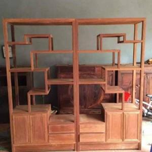 缅花博古架 两米乘以一米 凭祥市匠心居红木家具店
