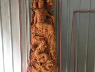 崖柏精品【双龙观音】木艺根雕