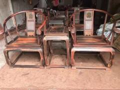 老挝大红酸枝红木皇宫椅