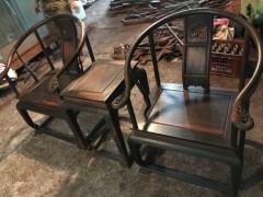 老挝大红酸枝皇宫椅