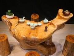 典尚木业香樟木根雕茶几,家居实木茶台,休闲功夫茶桌,木雕茶几