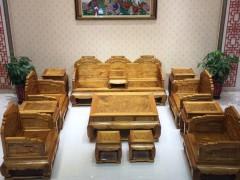 金丝楠木沙发十三件套
