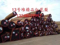 张家港一手货源供应非洲刚果精品红花梨原木