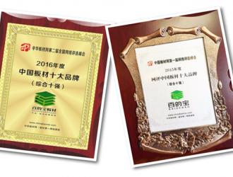 大家好,给大家介绍一下,这是中国板材十大品牌百的宝