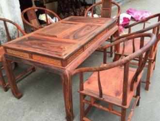 凭祥市匠心居红木家具店-缅甸花梨茶桌 老挝酸枝茶桌