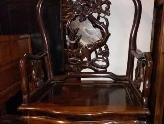 一张漂亮的民国酸枝椅――国外回流