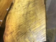 金丝楠木黄金章茶盘大板根雕批发