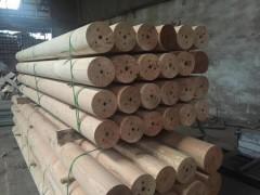 厂家直销进口木材可加工车圆抛光碳化防腐烘干规格齐全