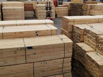 建筑工程木方,进口原木,木板材,家具料,托盘料厂家创秋木业
