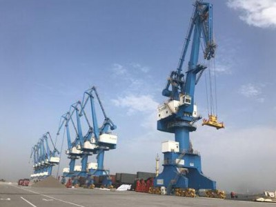 山东潍坊港成功接卸首船外贸原木