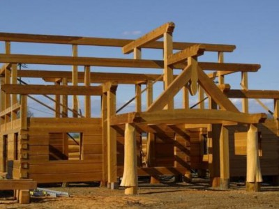 瑞士的山地小木屋制作过程