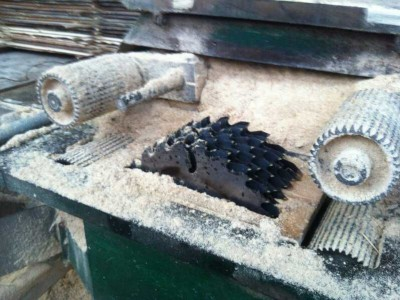 乌克兰制造松木方料板材槽板木地板条企业工厂设备 (13)