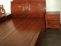 缅甸花梨精品床头柜,纳善红木家具