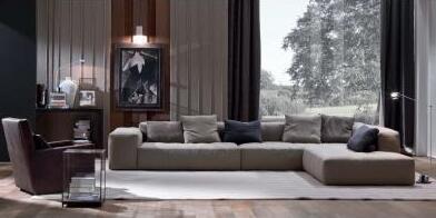 Armani的沙发品牌崇尚线条感