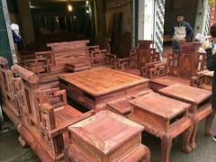 大红酸枝沙发_鸿瑞阁精品红木家具