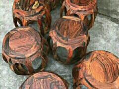 大红酸枝古凳_鸿瑞阁精品红木家具