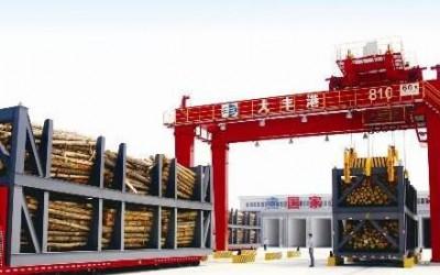 大丰港木材检疫处理中心为进口原木熏蒸除害