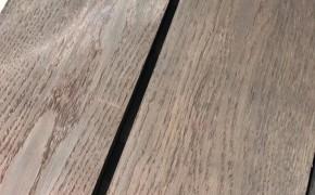 白橡碳化地板木皮500s_隆安出品