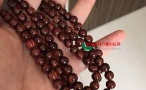 海南黄花梨,0.8,108颗佛珠油梨
