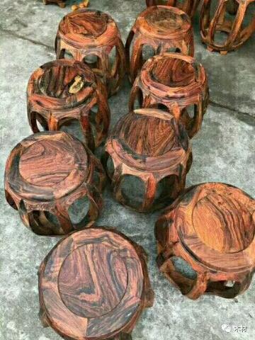 求购:老挝大红酸枝鼓凳