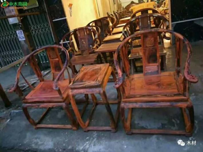 求购:老挝大红酸枝圈椅,求购电话:18615131230