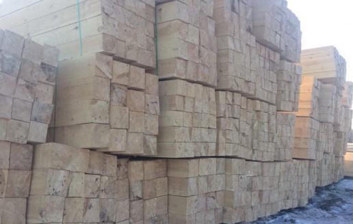 俄罗斯樟子松原木加工场地视频