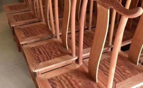 缅花餐椅水波纹理