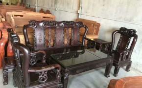 老挝大红酸枝锦绣沙发113_伟美红木家具_中木商网