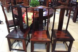 老挝大红酸枝圆餐桌