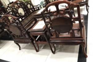 老挝大红酸枝茶桌/茶台_广西崇左明成阁红木