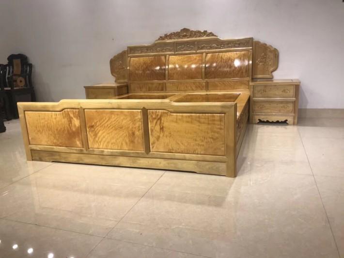 金丝楠木大床2000×1800独板卧室高低床