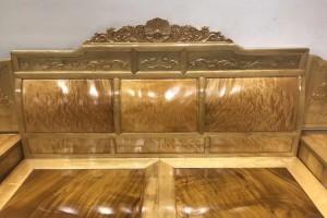 金丝楠木大床2000×1800独板卧室高低床图片