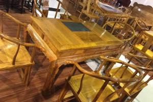 金丝楠木方桌,茶桌,茶台,茶几,茶座,圈椅七件套图片