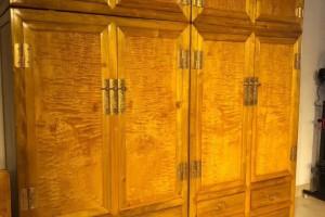 金丝楠木衣柜,顶箱柜,家具收纳柜四川大叶帧楠238*238*60