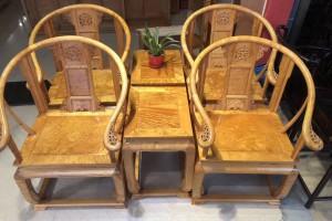 金丝楠木皇宫圈椅,椅子茶几三件套视频