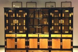 金丝楠木书柜,书架黑檀木大叶帧楠自由组合效果图片