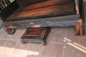 老挝大红酸枝罗汉床中式仿古简约三件套贵妃榻罗汉塌成顺(康之居)红木家具