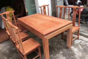 花梨木缅花餐桌实木长方桌红木棋牌桌仿古明式客厅桌餐台古典家具