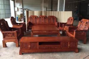 红木家具缅甸花梨木沙发客厅实木缅甸花梨沙发组合缅花