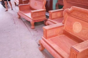 缅花红木家具缅甸花梨木实木沙发 大果紫檀国色天香全部独板113沙发