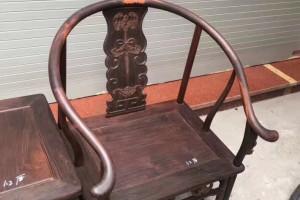 老挝大红酸枝福临门圈椅三件套坐板1.2公分独板拆房老料