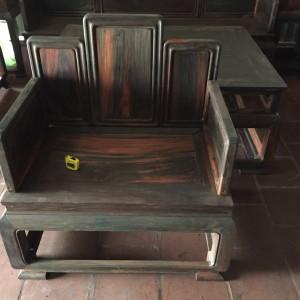 老挝大红酸枝五屏宝座沙发交趾黄檀独板实木休闲椅组合十件套红木家具产品