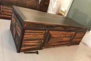 红木家具/老挝大红酸枝古典书桌椅/交趾黄檀办公桌/实木写字台产品