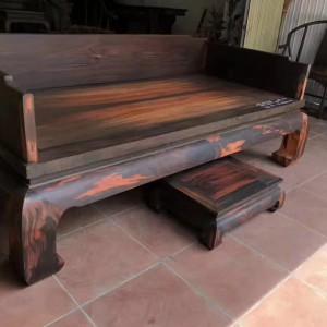 罗汉床实木中式卯榫仿古家具老挝大红酸枝简约三件套沙发贵妃榻罗汉塌品牌