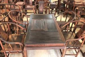 古典中式大红酸枝红木实木功夫办公室茶桌椅组合茶台家用传统简约产品